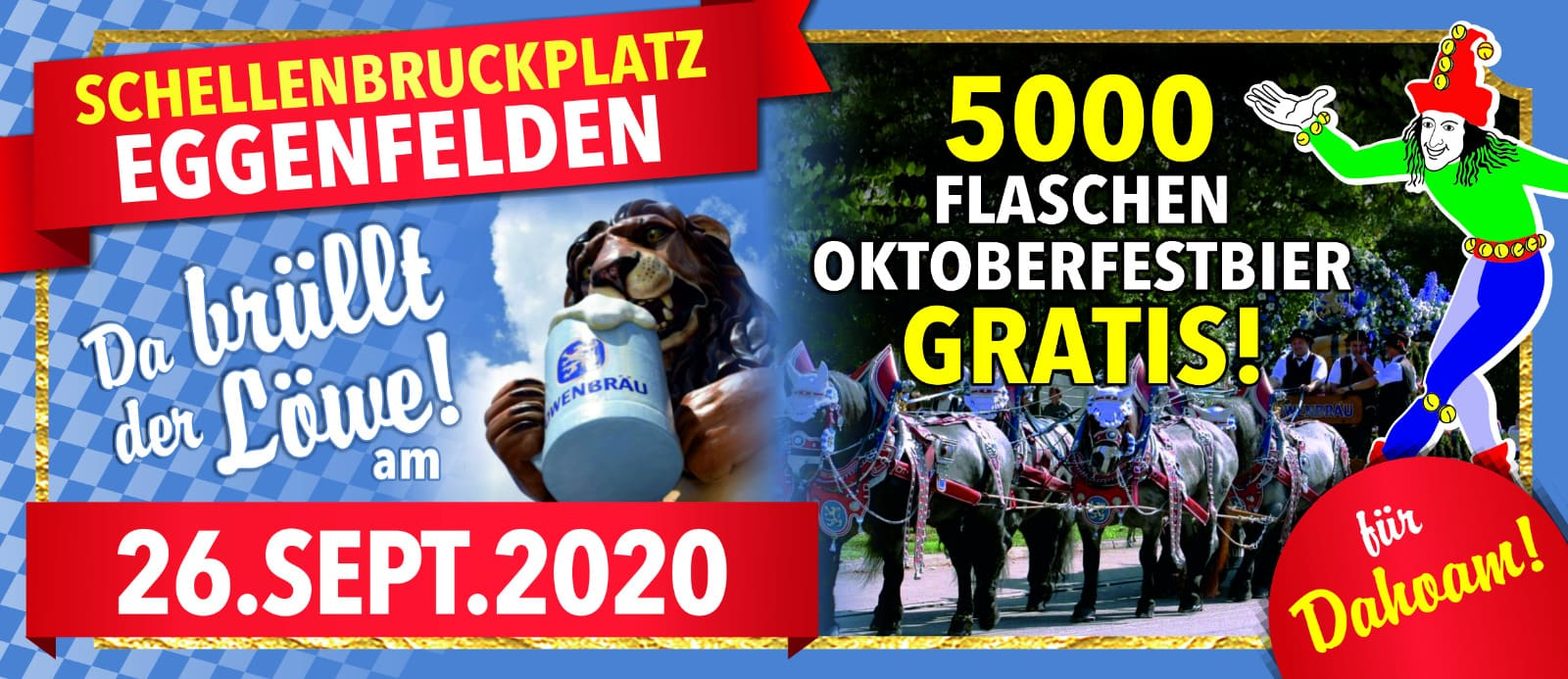 Oktoberfestbier am Schellenbruckplatz